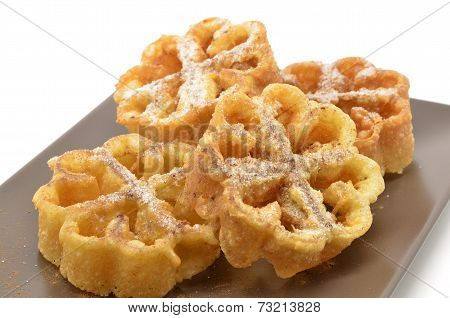 flores fritas or flores de pascua typical Easter dessert Spain