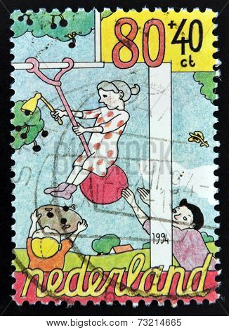 HOLLAND - CIRCA 1994: A stamp printed in The Netherlands dedicated to Child Welfare