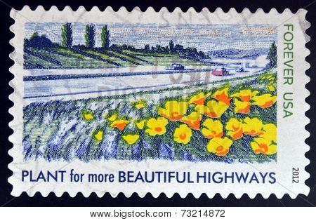 UNITED STATES OF AMERICA - CIRCA 2012: A stamp printed in USA dedicated to Lady Bird Johnson