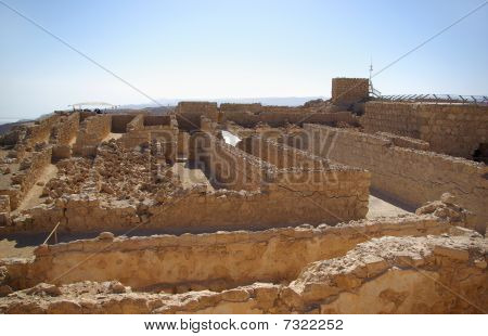 Ruins Of Warehouse In Masada Fortress