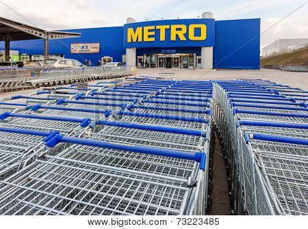 Samara, Russia - October 4, 2014: Metro Cash & Carry Samara Store. Metro Group Is A German Global Di