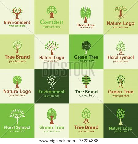 Tree Icons Vector Set