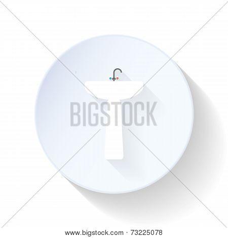 Washbasin Flat Icon