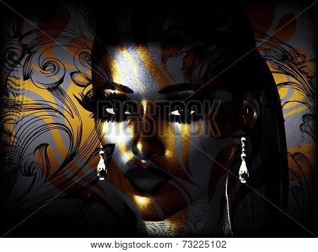 Abstract Face Art, Woman