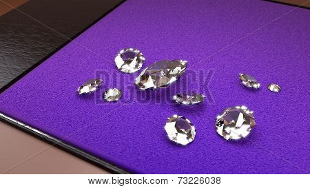Big Diamonds On A Purple Tray