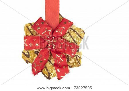 Coockie Hanging On Xmas Ribbon