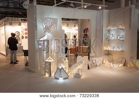 Cartuna Design Stand At Homi, Home International Show In Milan, Italy