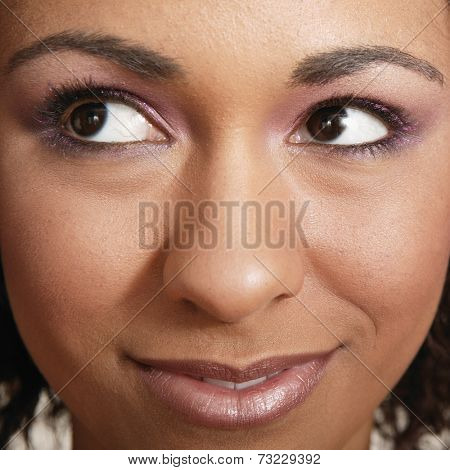 Close up of African woman's face