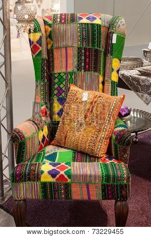 Colorful Armchair On Display At Homi, Home International Show In Milan, Italy