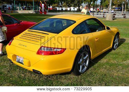 Yellow Porsche 911 Carrera