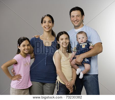 Portrait of Multi-ethnic family