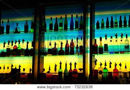 Colorful Cocktail Bar Bottles