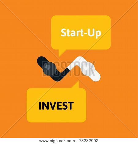 Handshake abstract flat vector design template
