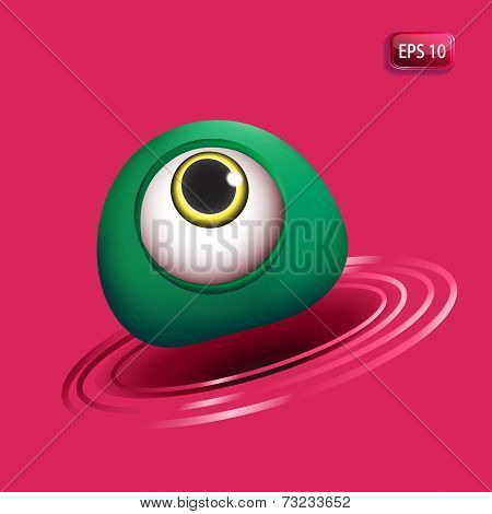 3D Monsters Eye -  Green
