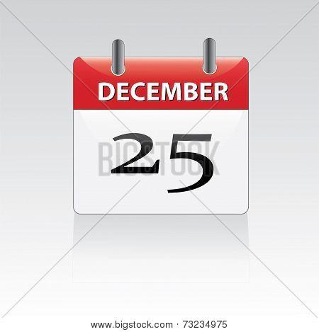 December 25th calender