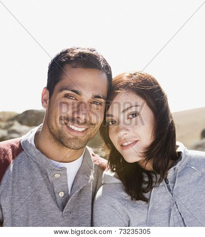 Multi-ethnic couple in sunlight