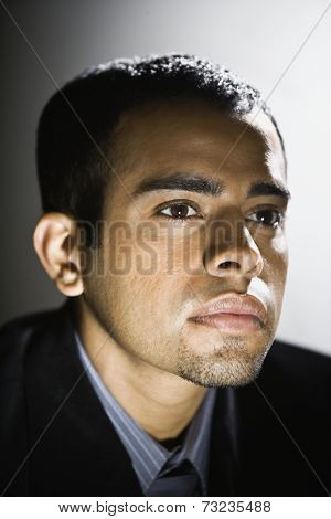 Close up of Indian businessman