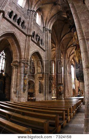 Interior of St Lawrence Church (Lorenzkirche) in Nurnberg
