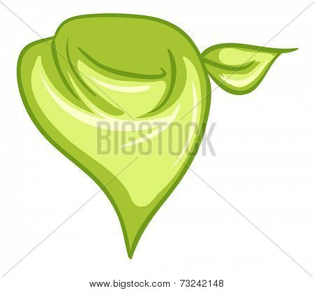 Illustration of yellowgreen scarf on a white background