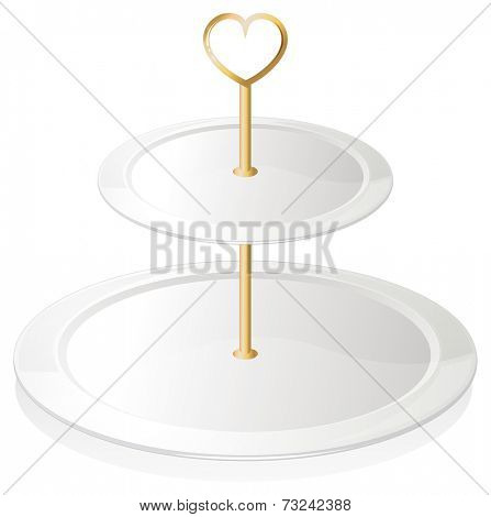 Illustration of a cupcake tray on a white background