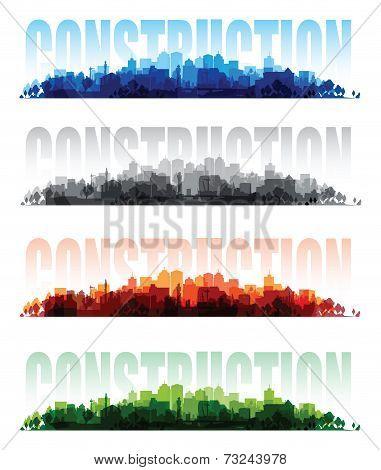 cityscape overprint backgrounds