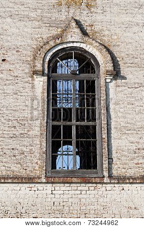 Big Window Of Old Orthodox Church