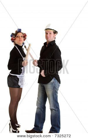 Housewife with Constructor