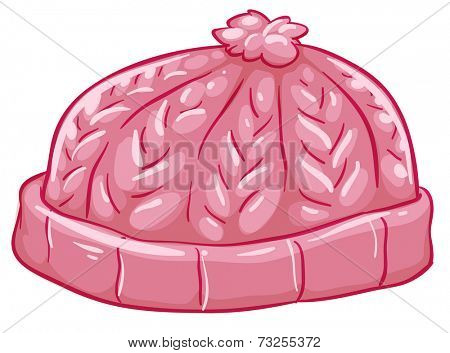 Illustration of a pink bonnet on a white background