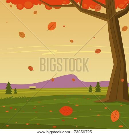 Autumn in the Mountain