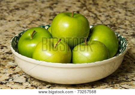 Large Bowl Of Apples