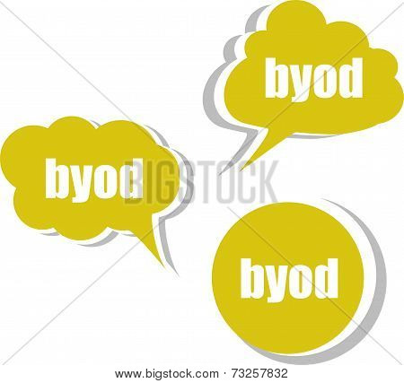 Byod. Set Of Stickers, Labels, Tags. Template For Infographics