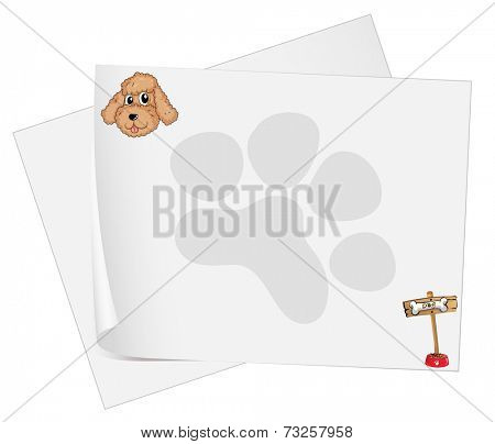Illustration of the empty stationery papers on a white background