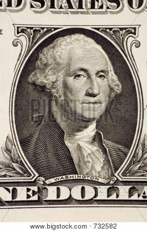 Washington on a $1 bill