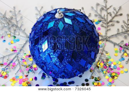 big beautiful blue ball