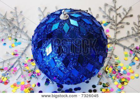 big beautiful blue ball