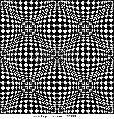 Design Seamless Monochrome Warped Checked Pattern