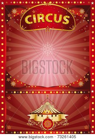 Greeting xmas circus poster. A circus poster for christmas and the new year for your advertising or your entertainment
