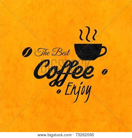 Menu for restaurant, the best coffee enjoy, use for cafe, bar of coffeehouse