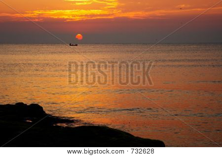 Peaceful Sunrise On The Beach