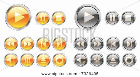 Yellow Media Buttons