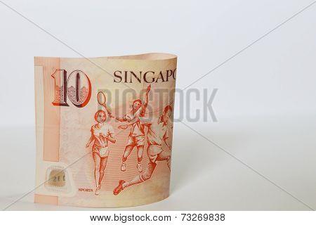 Singapore 10 Dollars Bank Note