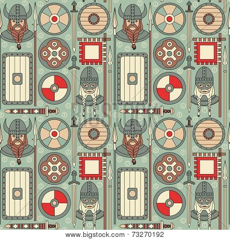 Seamless Viking Pattern 02