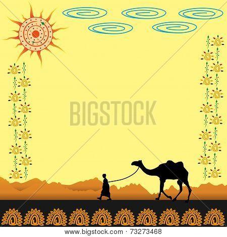 Boy in desert