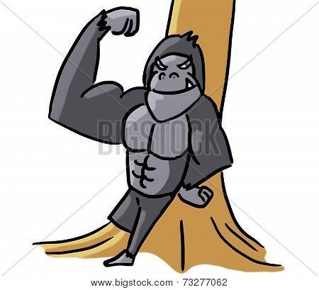 cartoon animal emotion gorilla strong