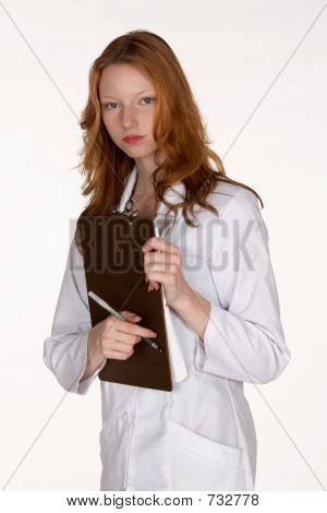 Medical Professional Holding Clipboard