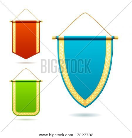 Set of pennants. Vector illustration.