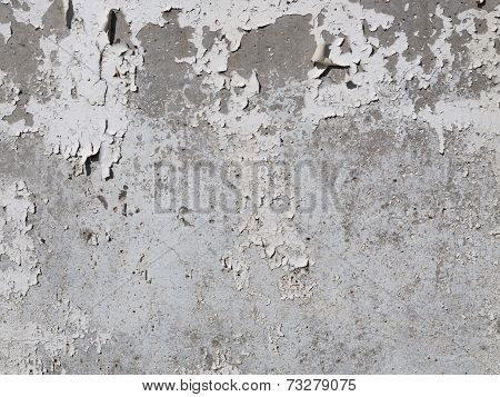 Concrete Wall And Old Paint