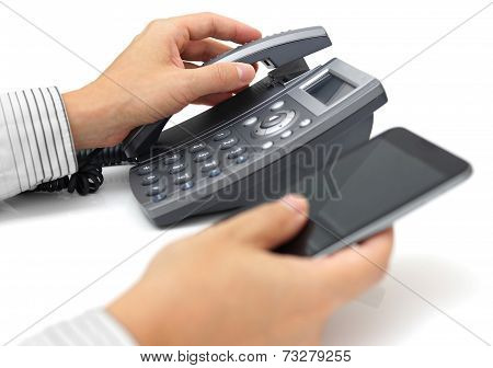 Landline Telephone And Mobile Phone Support