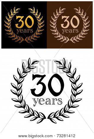 30 years anniversary wreath