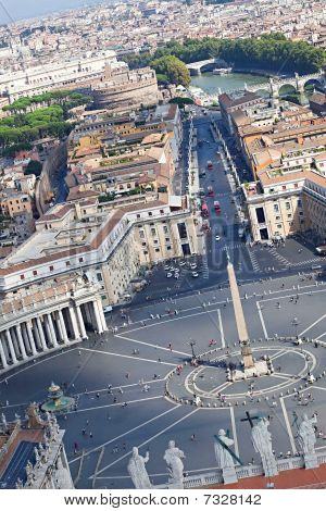 View From The Top Of The Papal Basilica Of Saint Peter